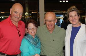 Volunteers (from left) Dr. Clifford Moore, Deb Nolan, Tim Cowan & Dina Kotler.